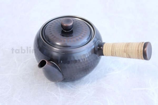 Photo2: Japanese Copper tea pot 345ml & tea caddy 200ml