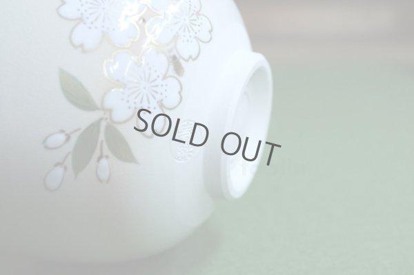Photo4: Kiyomizu Kyoto porcelain Japanese matcha tea bowl chawan ninsei cherry blossom