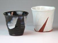 Hagi pottery sake tumbler nisai Tohru Funasaki 190ml set of 2