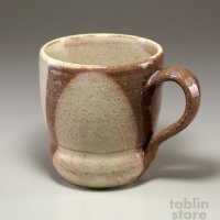 Hagi Senryuzan climbing kiln Japanese pottery mug coffee cup round shichi