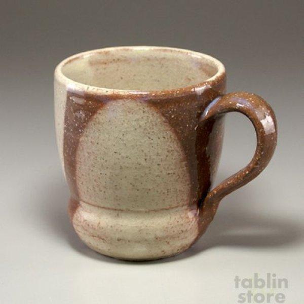 Photo1: Hagi Senryuzan climbing kiln Japanese pottery mug coffee cup round shichi