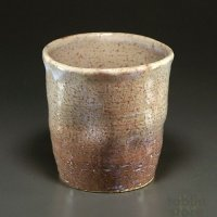 Hagi Senryuzan climbing kiln Japanese pottery tumbler shochu kama ni set of 2