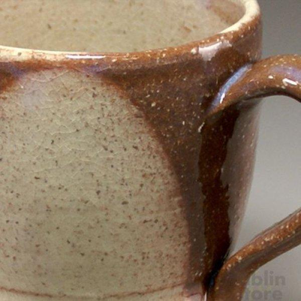 Photo2: Hagi Senryuzan climbing kiln Japanese pottery mug coffee cup round shichi