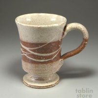 Hagi Senryuzan climbing kiln Japanese pottery mug coffee cup brown san