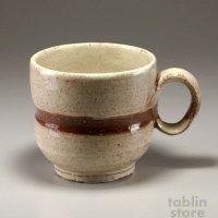 Hagi Senryuzan climbing kiln Japanese pottery mug coffee cup line kyu