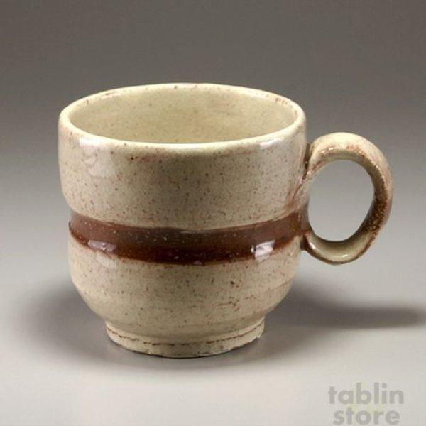 Photo1: Hagi Senryuzan climbing kiln Japanese pottery mug coffee cup line kyu