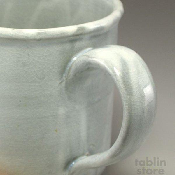 Photo2: Hagi Senryuzan climbing kiln Japanese pottery mug coffee cup kamahen ni