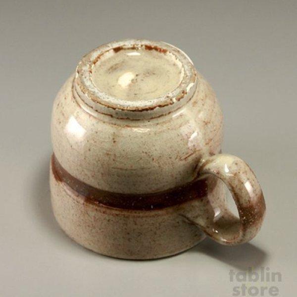 Photo3: Hagi Senryuzan climbing kiln Japanese pottery mug coffee cup line kyu