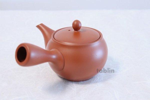 Photo2: Tokoname yaki ware Japanese tea pot morimasa red syudei ceramic tea strainer 360ml