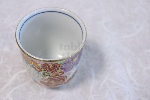 Other Images3: Kutani Porcelain Hanazume kumi flower m3 Japanese tea cup (set of 2)