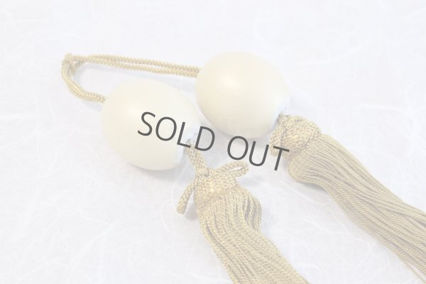 Photo5: Weight for Japanese hanging scroll FUCHIN stone Kutani porcelain gold pearl-like