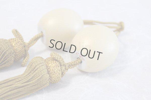Photo2: Weight for Japanese hanging scroll FUCHIN stone Kutani porcelain gold pearl-like