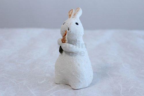 Other Images3: Shigaraki pottery Japanese doll rabbit Carrot H130mm