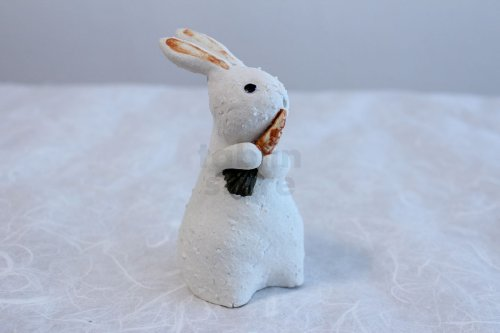 Other Images2: Shigaraki pottery Japanese doll rabbit Carrot H130mm
