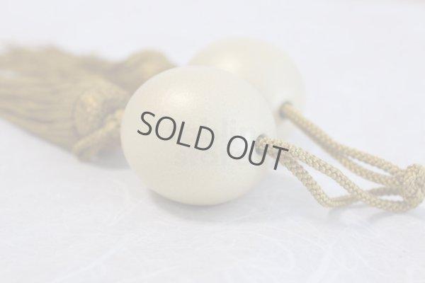 Photo3: Weight for Japanese hanging scroll FUCHIN stone Kutani porcelain gold pearl-like