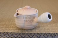Hagi yaki ware Japanese tea pot Hime M kyusu with stainless tea strainer 360ml