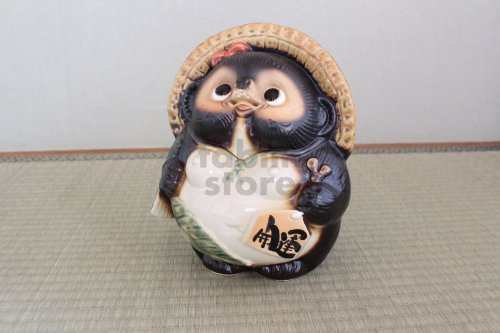 Other Images3: Shigaraki pottery Japanese Tanuki Cute Raccoon Dog onegai female H22cm