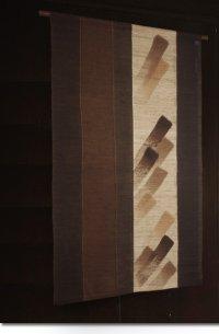 Noren Mitsuru Japanese linen door curtain Kakishibu tate hake 88 x 150cm