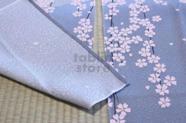 Photo5: Noren CSMO Japanese door curtain mt.fuji sakura cherry  85 x 150cm