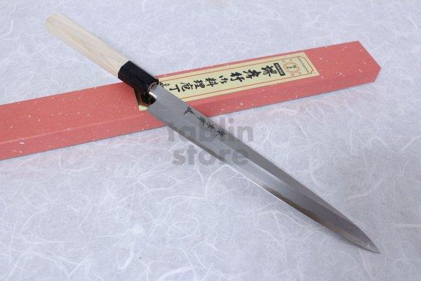 Photo1: SAKAI TAKAYUKI Chef Ginsan Japanese knife Silver-3 steel Sashimi Yanagiba