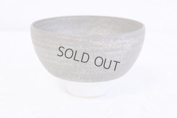 Photo2: Kiyomizu porcelain Japanese matcha tea bowl white n wan Daisuke Tokinoha