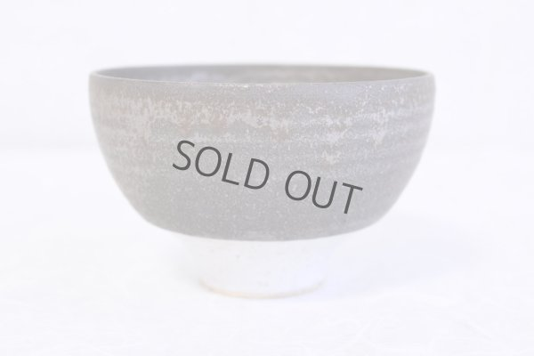 Photo1: Kiyomizu porcelain Japanese matcha tea bowl white n wan Daisuke Tokinoha