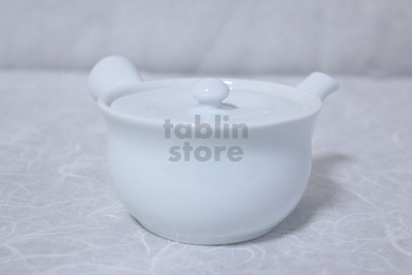 Photo1: Arita Porcelain Japanese tea pot white ceramic strainer manten 200ml