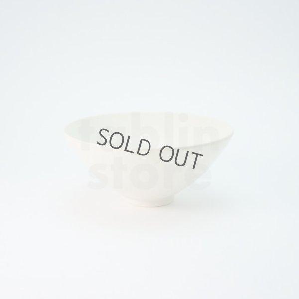 Photo1: Kiyomizu porcelain Japanese matcha tea bowl white shiro Hira Daisuke Kiyomizu