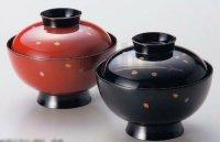 Japanese Echizen Urushi lacquer soup bowl wan matsuba sakura D12cm set of 2