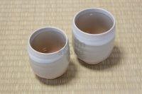 Hagi yaki ware Japanese tea cups pottery Himetuchi Maru