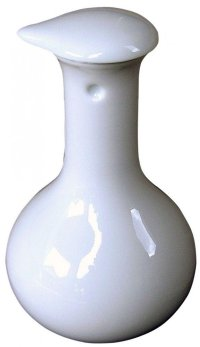 Arita imari sd Porcelain Japanese soy sauce bottle  white hakuji kakushu 120ml