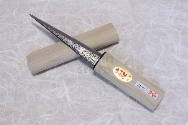 Photo1: Kiridashi knife Japanese kuri kogatana Woodworking Okeya Yasuki white 2 steel