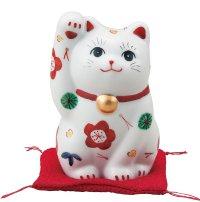 Japanese Lucky Cat Kutani Porcelain Maneki Neko sango shochikubai H 11.5cm