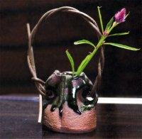 Shigaraki Japanese pottery Vase small yakijimebidoro  H 7cm