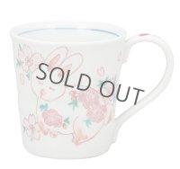 Kutani Porcelain Japanese mug coffee tea cup usaginisakura D 8.3cm