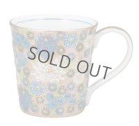 Kutani Porcelain Japanese mug coffee tea cup kinhanazume D 8.2cm