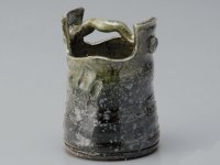 Shigaraki Japanese pottery Vase small hurubidoro teoke  H 11.5cm