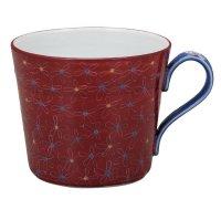 Kutani Porcelain Japanese mug coffee tea cup shumakikobana D 9.5cm