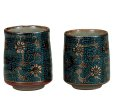 Photo7: Kutani Porcelain Japanese tea cups yon seiryutessen  (set of 2)