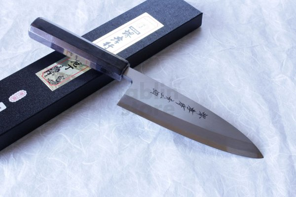 Photo1: SAKAI TAKAYUKI Japanese knife Aonikou Yasuki Blue-2 Steel Ebony wood Deba knife