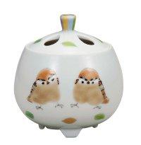 Kutani Porcelain Japanese incense burner koro hinatabokko H 7.5cm
