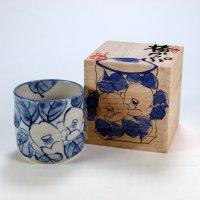 Kutani Porcelain yunomi tea cup pottery tumbler tsubaki 280ml