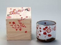 Kutani Porcelain yunomi tea cup pottery tumbler hana 280ml