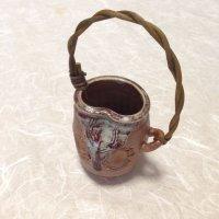 Shigaraki Japanese pottery Vase small tatsusunahenkei H 11cm