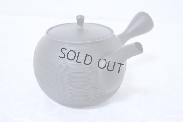 Photo2: Tokoname Japanese tea pot kyusu Gyokko ceramic tea strainer black sendan 480ml