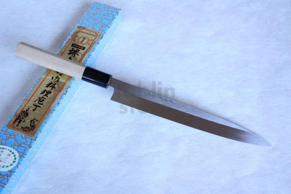 Photo1: Honyaki water quenching SAKAI TAKAYUKI Sashimi Yanagiba knife Yasuki White-2 steel