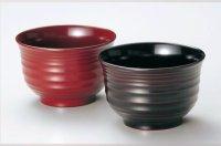 Japanese Echizen Urushi lacquer soup rice bowl wan akatsuki nami D11cm set of 2