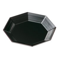 Japanese Echizen Urushi lacquer Serving plate bowl moriki octagon ryu D24.5cm