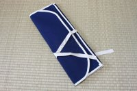 Japanese Kitchen knife case scroll cloth type 48 x 71cm blue for six knife