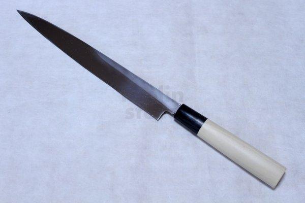 Photo2: Sakai Takayuki shin kasumi Shirogami white steel Sashimi knife with saya any size